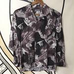 【一点物】奇抜デザイン日本製レーヨン柄シャツ