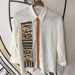 【一点物】ヴィンテージ  芸術柄 未使用 日本製 柄シャツ