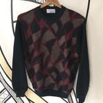 【派手】リーフグリーンデザインざっくりニットセーター