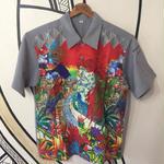 【希少】MITSUBISHI ハワイアン 柄ワークシャツ