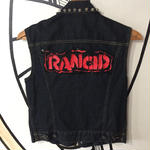 【ROCK】RANCID スタッズ バンドバッジ デニムベスト