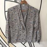 【個性的】ヴィンテージ ペイズリー 日本製 ドレープ柄シャツ