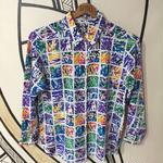 【日本製】カラフル ショッキング ペイント 柄シャツ
