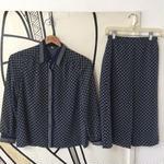 【レトロ】ヴィンテージ 幾何学模様 日本製 スカート セットアップ
