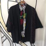 【KIMONO】ヴィンテージ ニット ブラック 着物 羽織 ガウン