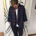 【個性的】日本製 デニムモチーフ 8分袖 ジャケット