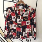 【奇抜】レトロ シルク 貴族 総柄 スカーフ柄シャツ
