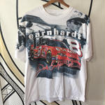 【XL】ド派手レーシングプリントヴィンテージTシャツ