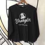 【4L】wrangler ブラック BIGロングTシャツ