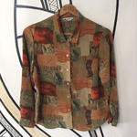 【個性的】レトロ 奇抜柄 デザイン 日本製 柄シャツ