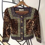 【奇抜】バブリーレオパードデザインジャケット