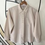 【個性的】日本製 ホワイト刺繍 隠れボタン ヴィンテージシャツ
