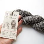 【通常販売:2営業日以内に発送可能】De-haired Baby Llama/Fingering weight『ECO LLAMA』100gかせ 無染色ベビーリャマ100%