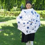 傳(ツタエノヒガサ)浜松注染 日傘/ 長傘タイプ「キツネノタスキ - はなはな藍 」