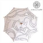 傳(ツタエノヒガサ)浜松注染 日傘/ 長傘タイプ「キツネノタスキ - オナワ生成り 」