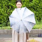 傳(ツタエノヒガサ)浜松注染 日傘/ 長傘タイプ「オハナ滲み 」