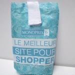パリのスーパーMONOPRIX エコバッグ マーメイド柄