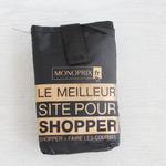 パリのスーパーMONOPRIX エコバッグ 黒×ゴールド