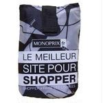 パリのスーパーMONOPRIX エコバッグ モノトーン横顔