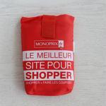パリのスーパーMONOPRIX エコバッグ 明るい赤