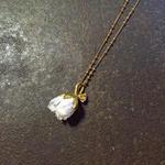 【限定一点】 Lilaf 小花のネックレス blue