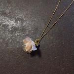 【限定一点】 Lilaf クララのネックレス beige (紅茶染め)