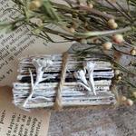m.soeur ワックスフラワーのイヤリング silver