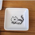 【tomopecco】豆皿 ねこ