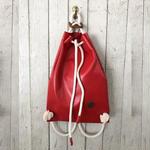 ☆高級メゾンも提案中のアイテム☆IF BAGS【イフバッグス】PUレザーナップサック RED