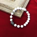 ☆武骨×エレガント☆mancino【マンチーノ】MABRPI01 bracelet WHITE