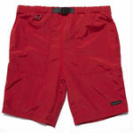 RAISED BY WOLVES FITZROY BELTED SHORTS RED