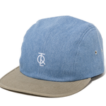 THE QUIET LIFE JUMP 4 PANEL HAT LIGHT DENIM/DARK DENIM