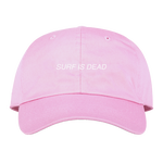 SURF IS DEAD ASLEEP 6PANEL CAP PINK