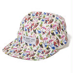 THE QUIET LIFE LIBERTY BIRDS OF PARADISE 5 PANEL CAMPER HAT ALL OVER BIRDS