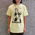 REAL  SKATEBOARDS KING BABY TSHIRT  LIGHT YELLOW