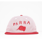 BY PARRA  6 PANEL HAT BEAK KNOB   RED OXFORD