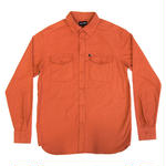 PASS~PORT WORKERS LATE FLANNELETTE SHIRTS ORANGE