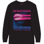 SURF IS DEAD STRANGER WAVES LONGSLEEVE TEE BLACK