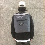 COMA BRAND CANVAS BACKPACK GREY