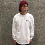 CHOCOLATE SKATEBOARDS FLORAL CHUNK LONGSLEEVE T-SHIRT WHITE