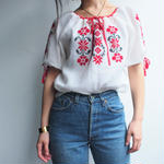 embroidery blouse (RED)