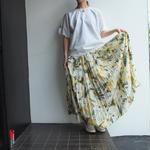 All pleats yellow skirt