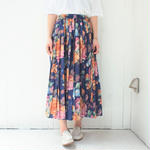 Made in  England Smoky blue pleats skirt