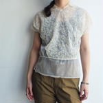 Europe tulle lace blouse