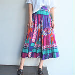 All  pleats Long color skirt
