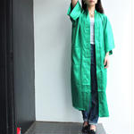 Green China gown coat