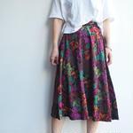 Mide in USA flower print skirt