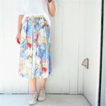 Pleats Print skirt