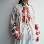 ~1920's East Europe antiquePink linen blouse