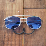 Dead stock pilot sunglasses(BLUE)1980's
